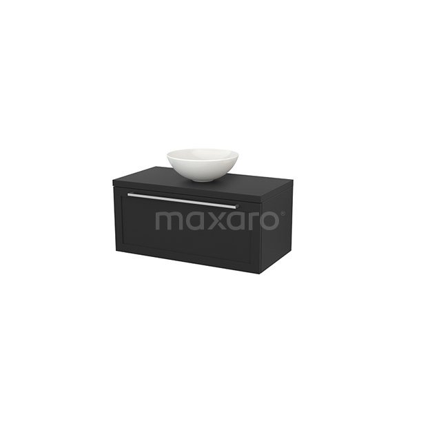 Badkamermeubel voor Waskom 90cm Modulo+ Plato Carbon 1 Lade Kader BMK001338