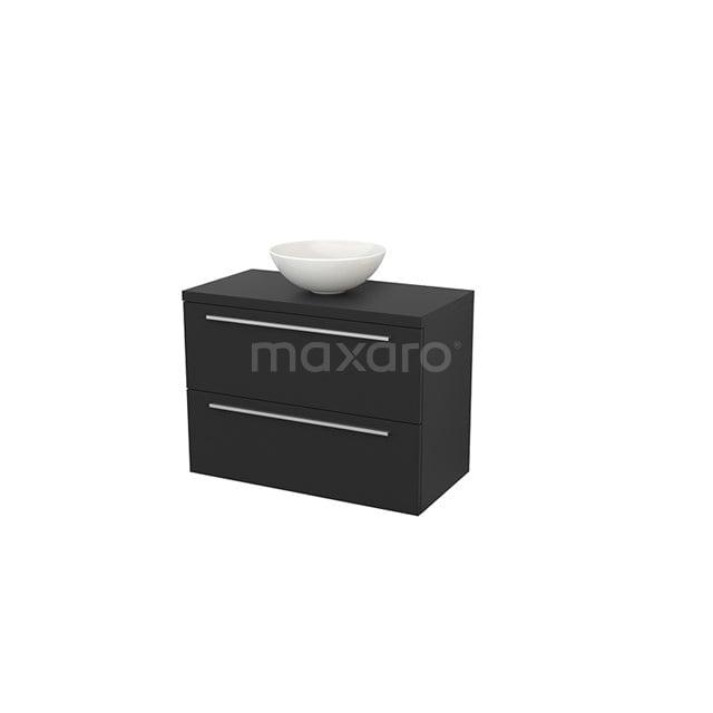 Badkamermeubel voor Waskom 90cm Modulo+ Plato Carbon 2 Lades Vlak BMK001872