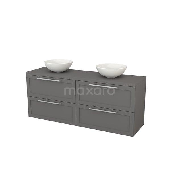 Badkamermeubel voor Waskom 160cm Modulo+ Plato Basalt 4 Lades Kader BMK002766