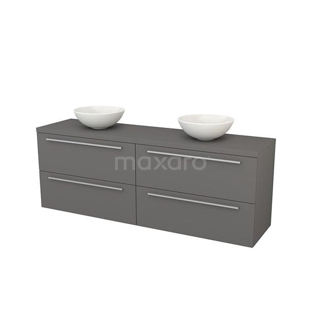 Badkamermeubel voor Waskom 180cm Modulo+ Plato Basalt 4 Lades Vlak BMK002850