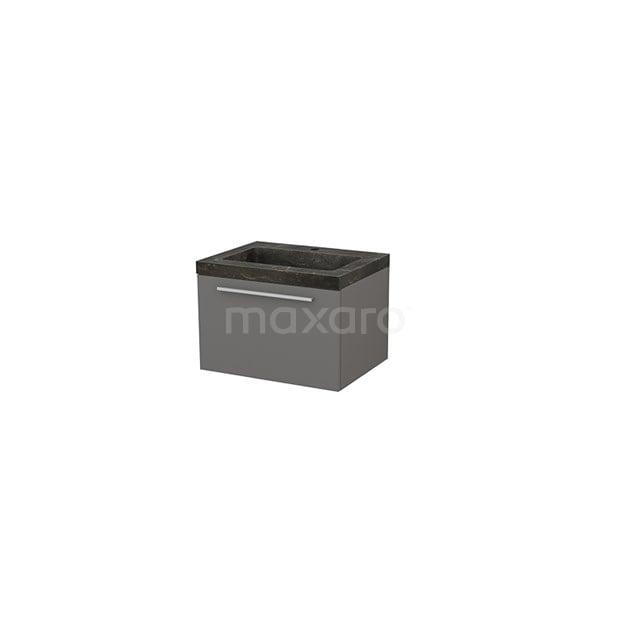 Badkamermeubel 60cm Modulo+ Basalt 1 Lade Vlak Wastafel Natuursteen Blue Stone BMP001080