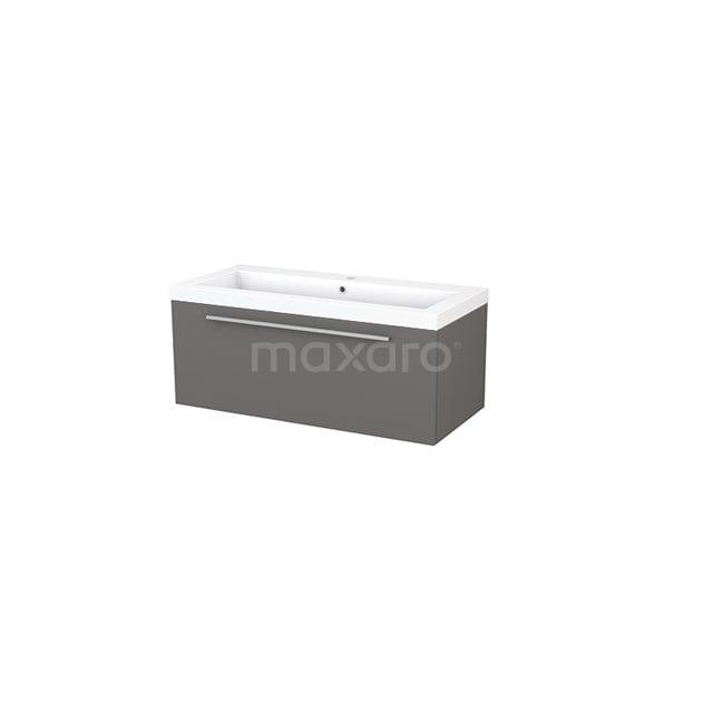 Badkamermeubel 100cm Modulo+ Basalt 1 Lade Vlak Wastafel Mineraalmarmer BMP001862