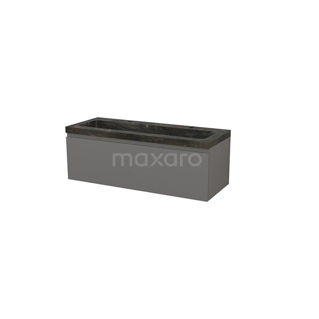 Badkamermeubel 120cm Modulo+ Basalt 1 Lade Greeploos Wastafel Natuursteen Blue Stone BMP002162