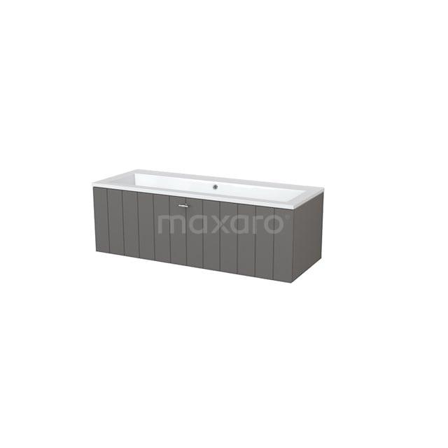 Badkamermeubel 120cm Modulo+ Basalt 1 Lade Lamel Wastafel Mineraalmarmer BMP005351