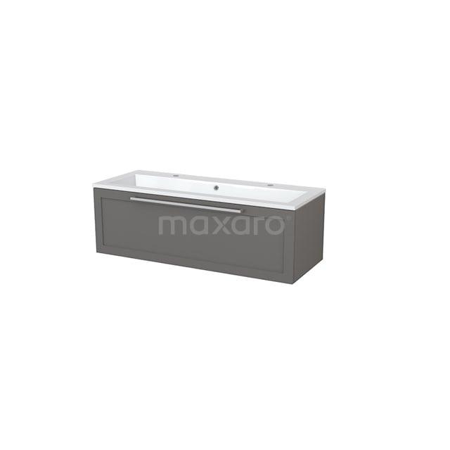 Badkamermeubel 120cm Modulo+ Basalt 1 Lade Kader Wastafel Mineraalmarmer BMP005357
