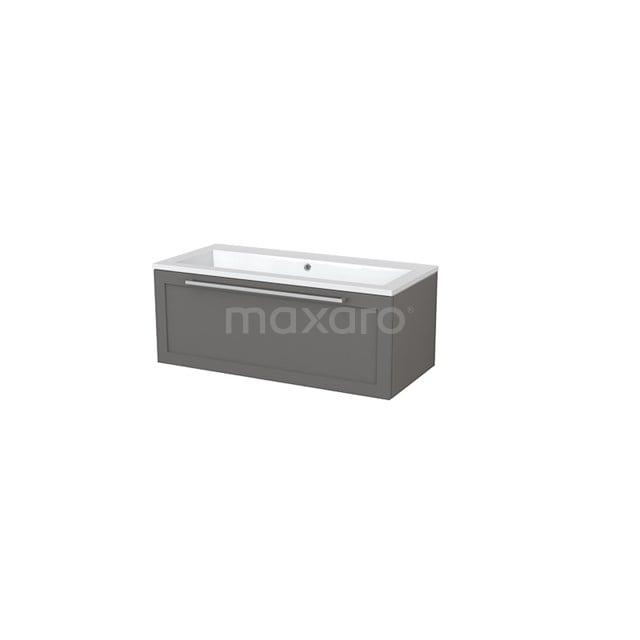 Badkamermeubel 100cm Modulo+ Basalt 1 Lade Kader Wastafel Mineraalmarmer BMP005364