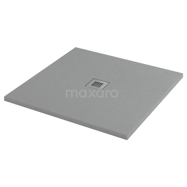 Douchebak 80x80cm Vierkant Mineraalmarmer Grijs DBLS0808DG-RDG