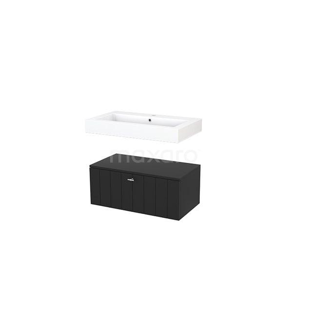 Wastafelmeubel Modulo+ 80x35cm Carbon 1 Lade BMR000046