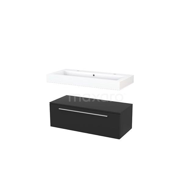Wastafelmeubel Modulo+ 100x35cm Carbon 1 Lade BMR000055
