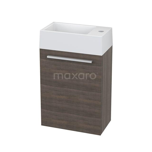 Toiletmeubel met Wastafel Mineraalmarmer Canto Grijs Eiken 40cm BMT000201