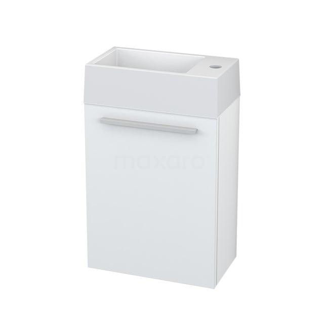 Toiletmeubel met Wastafel Mineraalmarmer Canto Hoogglans Wit 40cm BMT000202