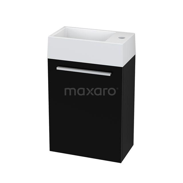Toiletmeubel met Wastafel Mineraalmarmer Canto Zwart 40cm BMT000203