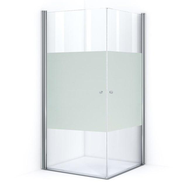 Douchecabine Zircon Comfort met Matte Strook 100x100cm Vierkant met Draaideur S0312-1010