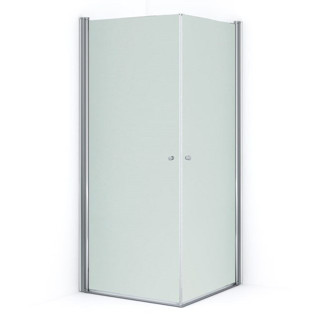 Douchecabine Zircon Comfort Matglas 90x90cm Vierkant met Draaideur S0313-0909