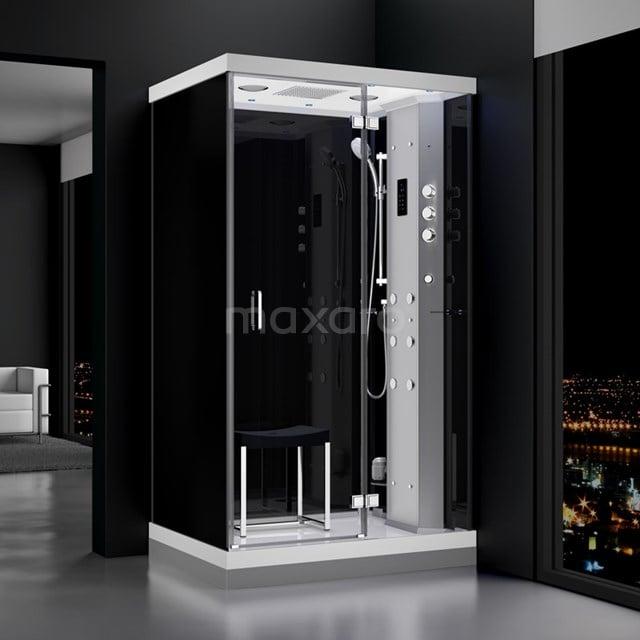 Stoomcabine Lusso 120x90cm Spiegelglas Watermassage LED Bluetooth SHA1209222