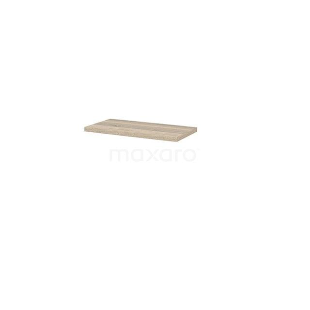 Wastafelblad Modulo+ Plato Slim 80cm Eiken Ondiep T09-0800-33200