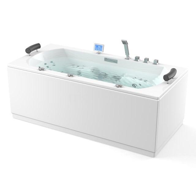 Whirlpool Bad Atlantic Platinum 2 Persoons 180x90cm Water- en luchtmassage met Turbo W09014EM