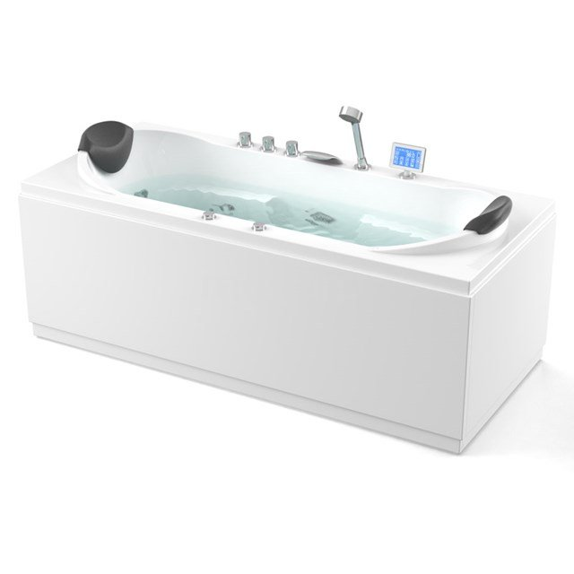 Whirlpool Bad Nordic Silver 2 Persoons 180x80cm Watermassage W019-1814CM