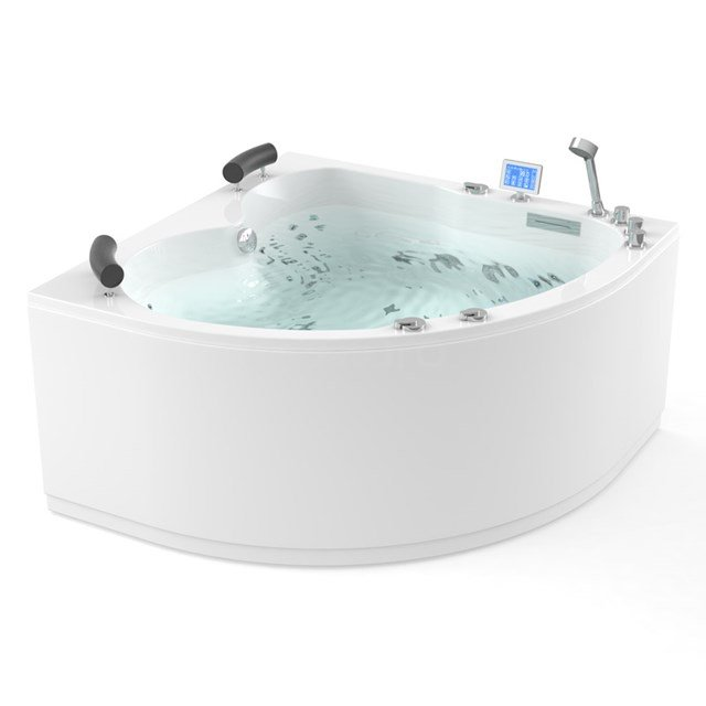 Whirlpool Bad Atlantic Platinum 2 Persoons Links 140x140cm Water- en luchtmassage met Turbo W03014EL
