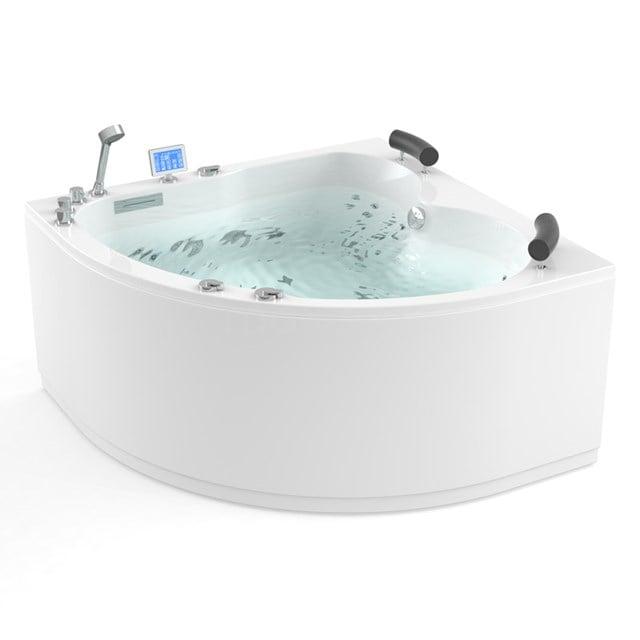 Whirlpool Bad Atlantic Platinum 2 Persoons Rechts 140x140cm Water- en luchtmassage met Turbo W03014ER