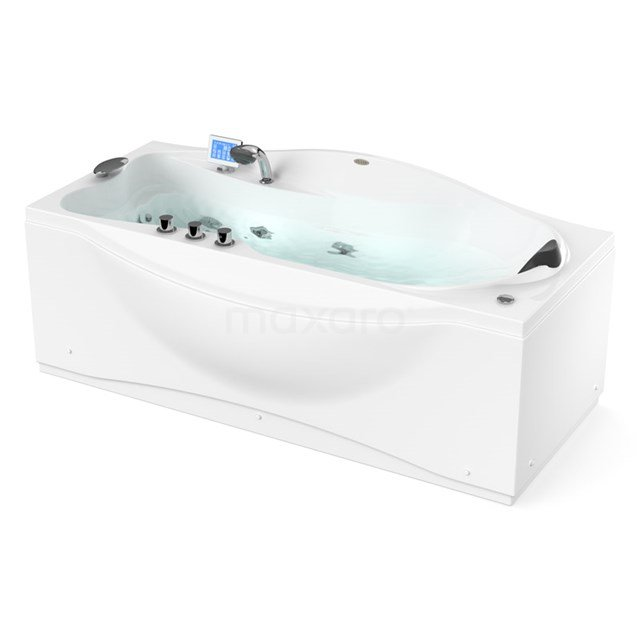 Whirlpool Bad Vortex Silver 1 Persoons Links 180x80cm Watermassage W062-183CL W062-183CL