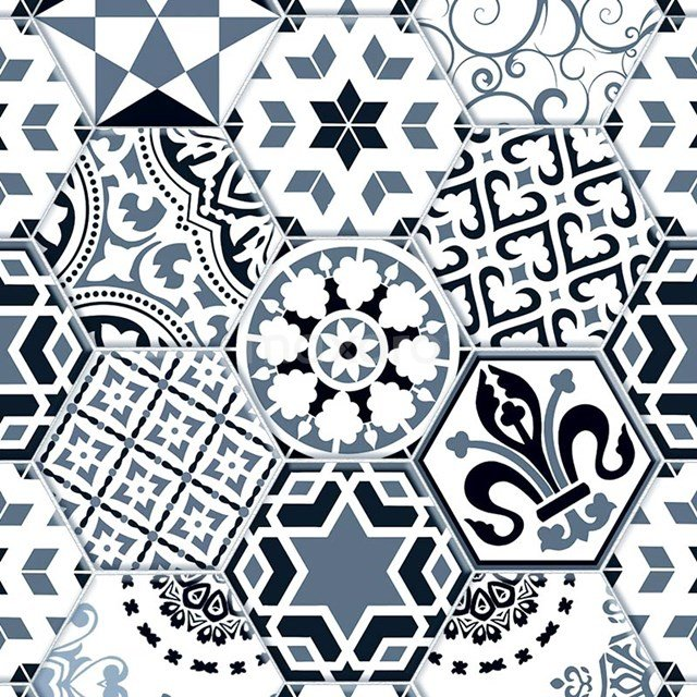 Decortegel Tasos Harmony 20x23cm Portugees Multicolor Hexagon 302-010101