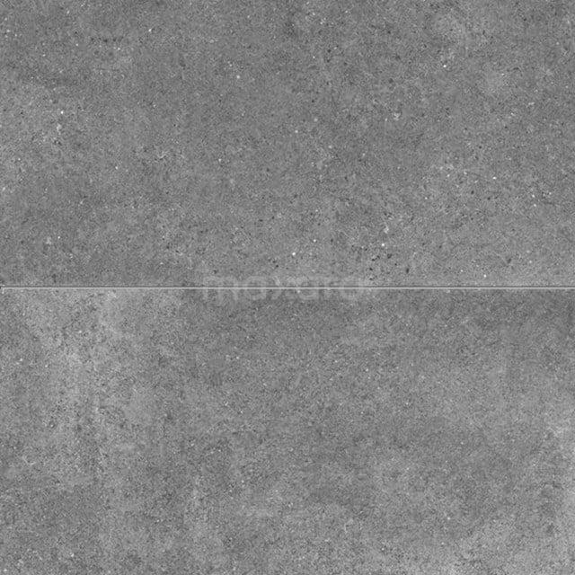 Vloertegel/Wandtegel Viene Ombergrijs 45x90cm Natuursteenlook Antraciet Gerectificeerd 303-030304