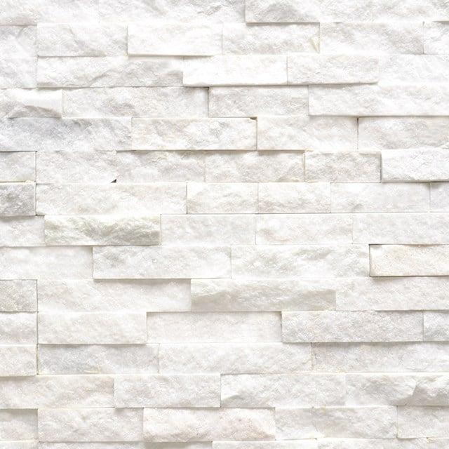Steenstrips Brick White Star 15x60cm Natuursteen Wit 303-500201