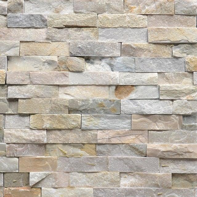 Steenstrips Brick Island 15x60cm Natuursteen Multicolor 303-500203