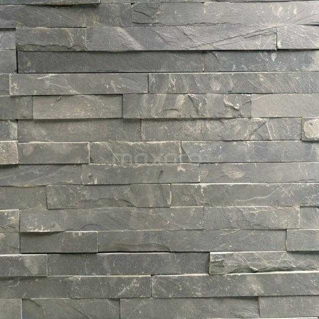 Steenstrips Brick Grey 15x60cm Natuursteen Grijs Mat 303-500205