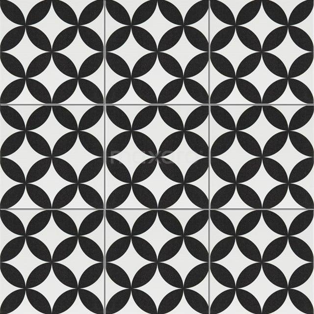 Vloertegel/Wandtegel Memory Retro White 20x20cm Portugees Multicolor 402-010103