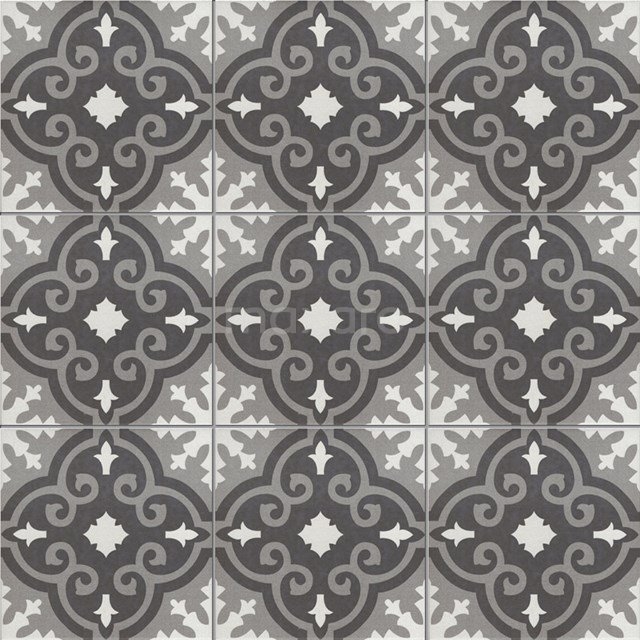 Vloertegel/Wandtegel Memory Royal Black 20x20cm Portugees Multicolor 402-010111