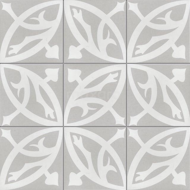 Tegelsample, Vloertegel/Wandtegel, Memory Circle Grey 402-0108TS