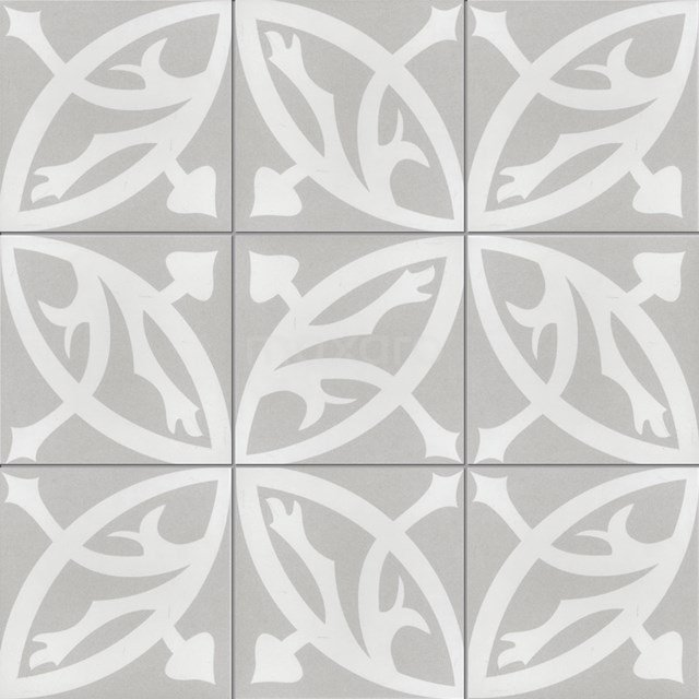 Vloertegel/Wandtegel Memory Circle Grey 20x20cm Portugees Multicolor 402-010108