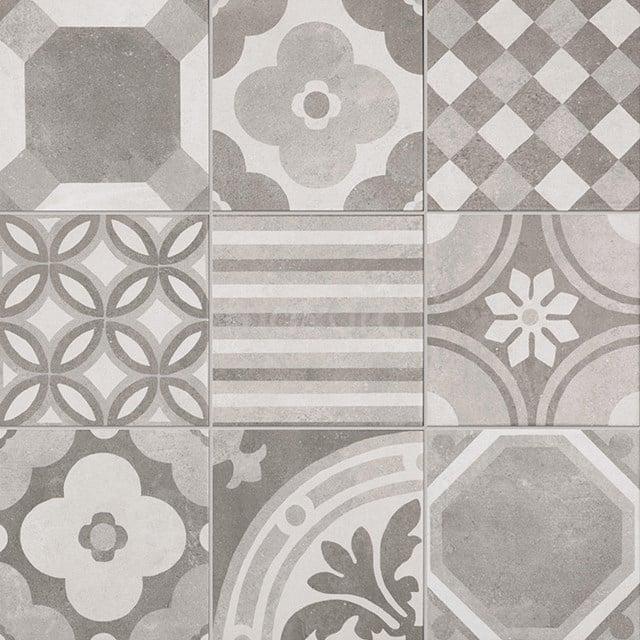 Tegelsample, Vloertegel/Wandtegel, Tura Grey Decor 501-0604TS