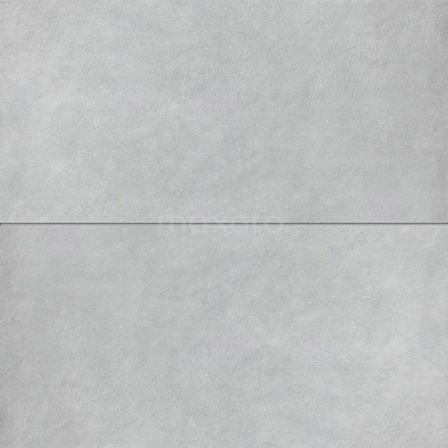 Vloertegel/Wandtegel Verso Light Grey 40x80cm Uni Grijs Gerectificeerd 501-070303