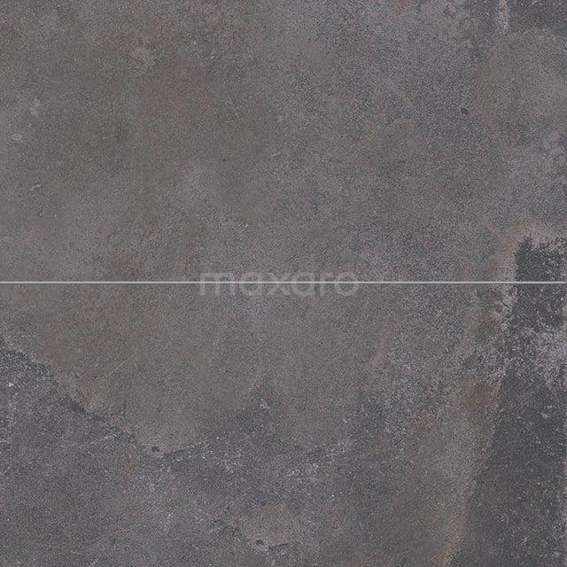 Vloertegel/Wandtegel Opus Dark Grey 30x60cm Natuursteenlook Antraciet Gerectificeerd 503-020203