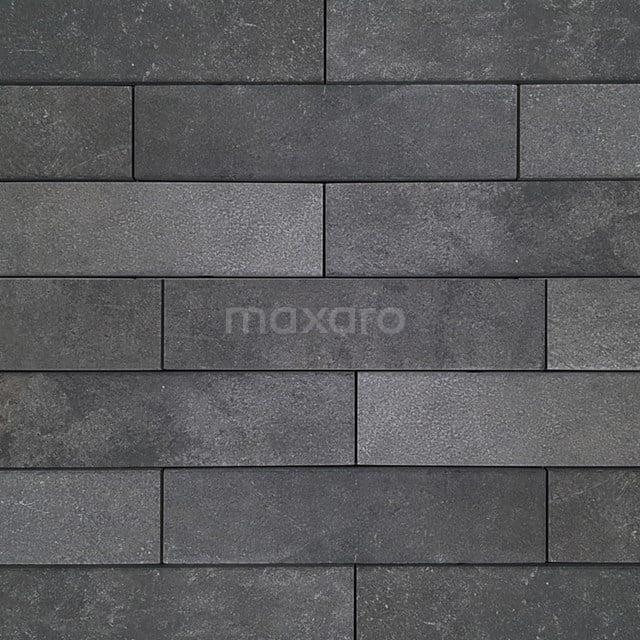Vloertegel/Wandtegel Opus Dark Grey 7,5x30cm Natuursteenlook Antraciet 503-020403