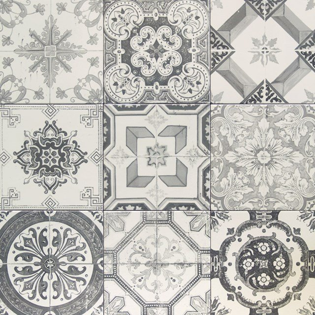 Decortegel Deco Grey 20x20cm Portugees Grijs 506-010101