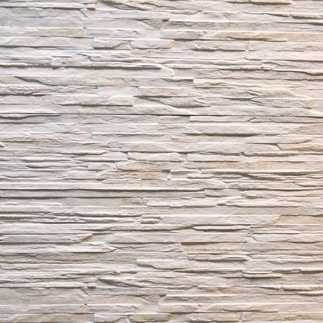 Wanddecor Cliff White 16,5x41cm Natuursteenlook Wit  403-050101