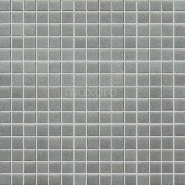 Glasmozaïek Wave Light Grey 32,7x32,7cm Grijs Mat 306-020102