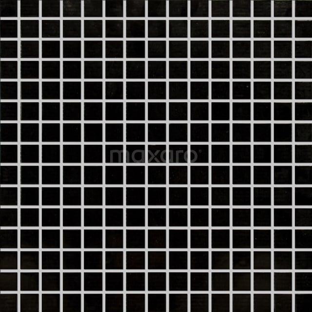 Glasmozaïek Wave Black Star 32,7x32,7cm Zwart Glanzend 306-020105