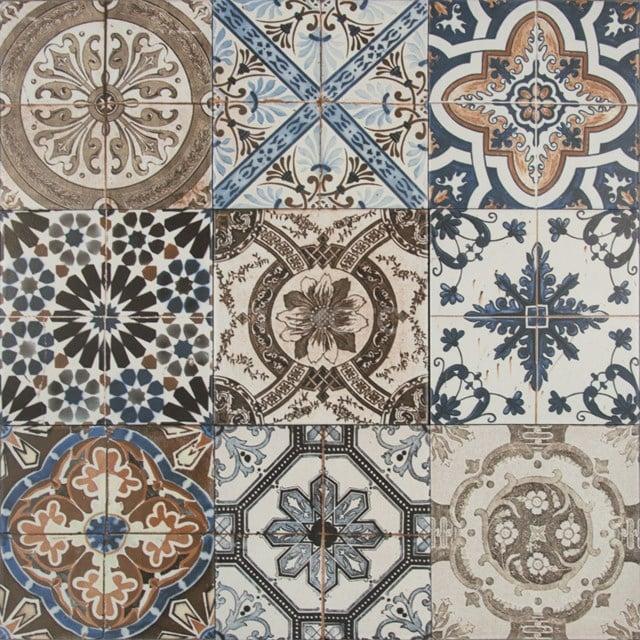 Decortegel Deco Vintage 20x20cm Portugees Multicolor 506-010102