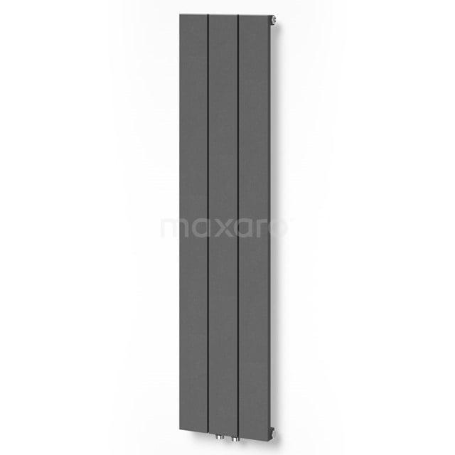 Aluminium Designradiator Jupiter Donkergrijs Metallic 525 Watt 28x120cm Verticaal DR52_0312RDN