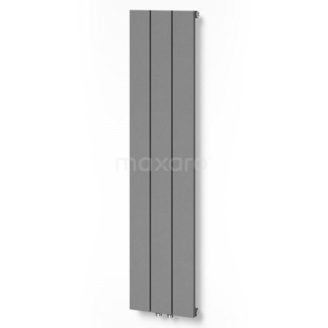 Aluminium Designradiator Jupiter Lichtgrijs Metallic 525 Watt 28x120cm Verticaal DR52_0312RLN