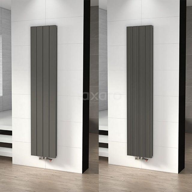 Aluminium Designradiator Ceres Lichtgrijs Metallic 1504 Watt 37,5x180cm Verticaal DR55_0418RLN