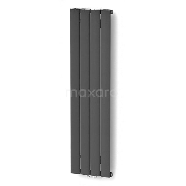 Aluminium Designradiator Eris Donkergrijs Metallic 589 Watt 31,5x120cm Verticaal DR56_0412RDN