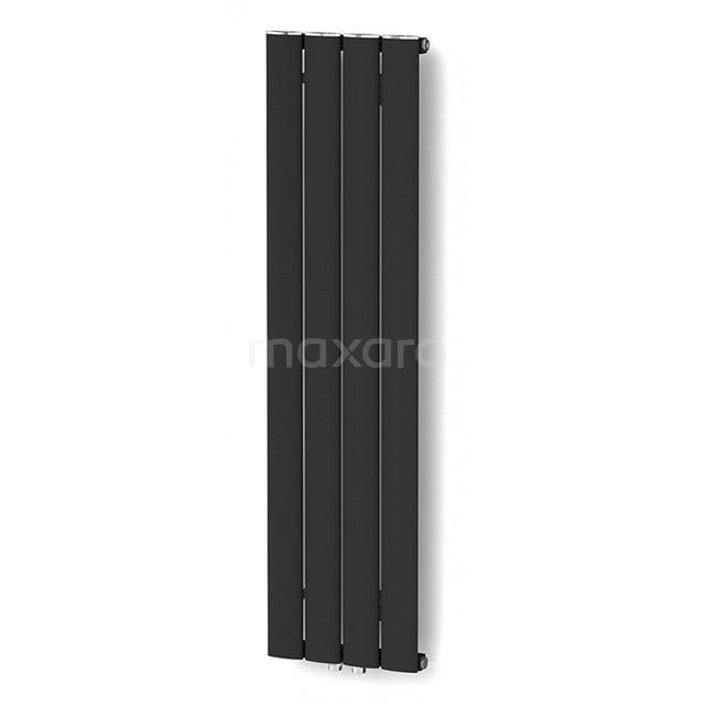 Aluminium Designradiator Eris Mat Zwart 589 Watt 31,5x120cm Verticaal DR56_0412SBN